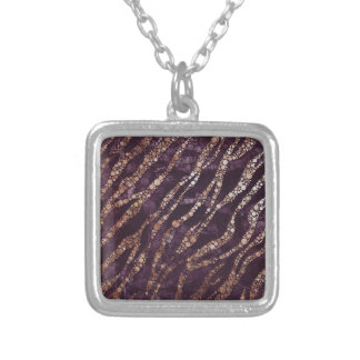 Lavender Abstract Bling Zebra Necklaces