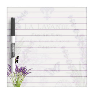 Lavender and butterfly dry erase board