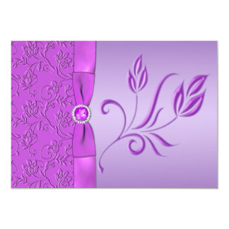 Lavender and Purple Jewelled Wedding Invitation