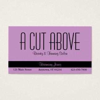 Lavender Beauty Salon Business Card
