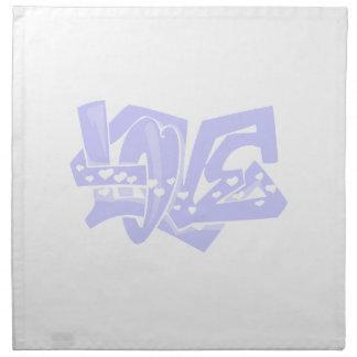 Lavender Blue Love Graffiti Napkin