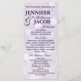Lavender Bokeh Highlights Wedding Program