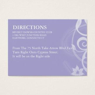 Lavender Branch Wedding Enclosure Card