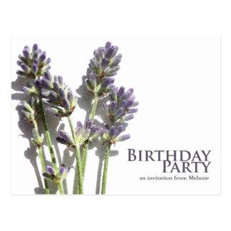 Lavender Bunch | Birthday Party Invite Postcards