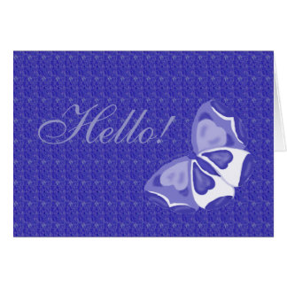Lavender Butterfly Hello Note Card
