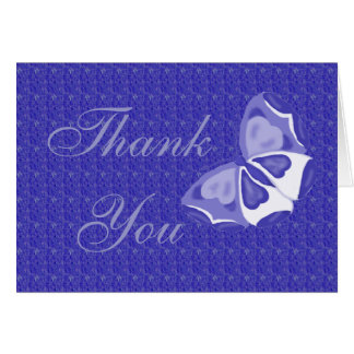 Lavender Butterfly Thank You Note Card