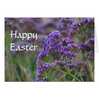 Lavender by the ocean Happy Easter Card
