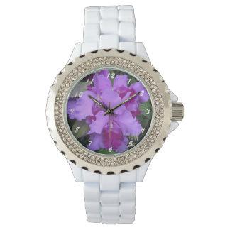 Lavender Catleya Orchids Wristwatches