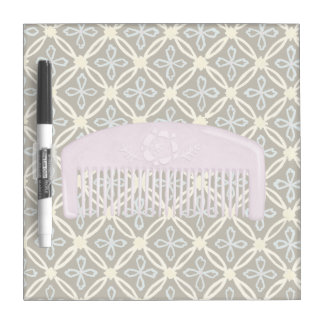 Lavender Comb on Chocolate Background Dry Erase Board