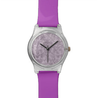 Lavender Damask Patterned Ladies Watch