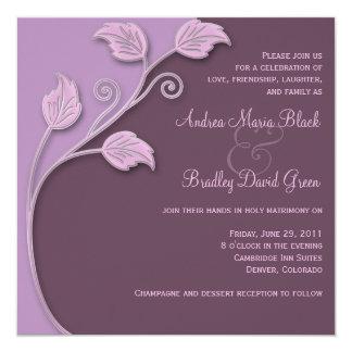 Lavender & Eggplant Wedding Invitation