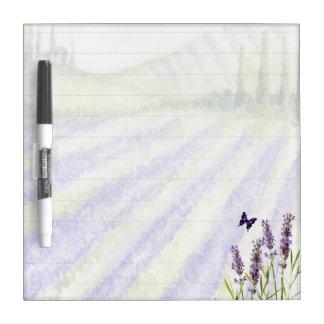 Lavender field dry erase board