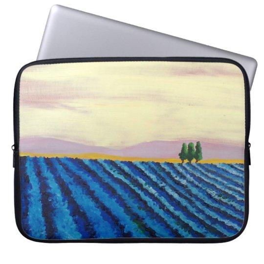 Lavender Field (French Landscape) - K.Turnbull Art Laptop Sleeve