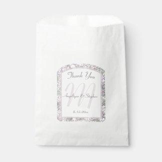 Lavender Floral Damask Wedding Favour Bags