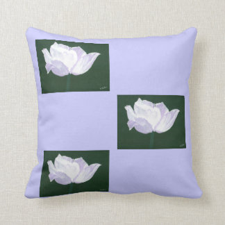 Lavender Floral Decorative Pillow Throw Cushions