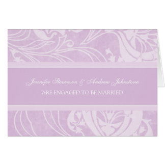Lavender Floral Engagement Announcement Card