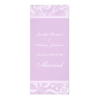 Lavender Floral Engagement Announcement Cards