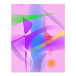 Lavender Free Forms Abstract Painting Full Color Flyer