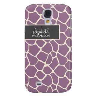 Lavender Giraffe Pern Samsung Galaxy S4 Cover