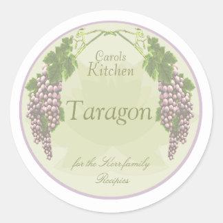 lavender grapes spice jar labels round sticker
