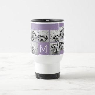 Lavender Instagram Photo Collage Custom Monogram Mugs