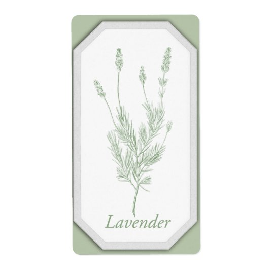 Lavender Jar Label Shipping Label