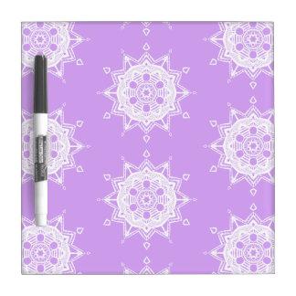 Lavender Mandala Dry Erase Board