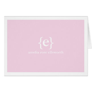 Lavender Monogram Personal/Business Notecards Card