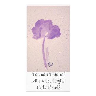 """Lavender""Original Abstract Acrylic Linda Powell Personalised Photo Card"