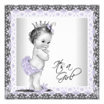 Lavender Purple and Grey Vintage Baby Girl Shower