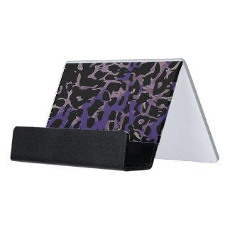 Lavender Purple Cheetah Abstract Desk Business Card Holder