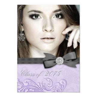 Lavender Purple Photo Graduation Announcements