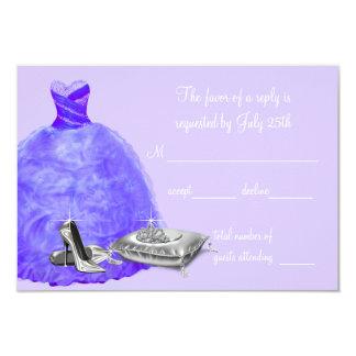 Lavender Purple Quinceanera RSVP Personalized Invitations