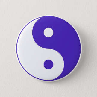 Lavender Purple Yin-Yang 6 Cm Round Badge