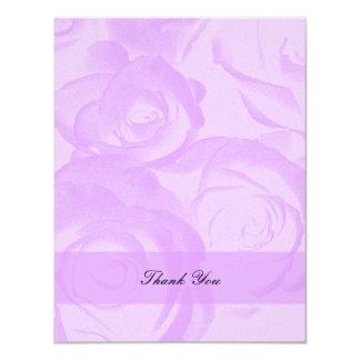 Lavender Quinceanera Thank You Invitation