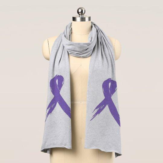 Lavender Ribbon Jersey Scarf