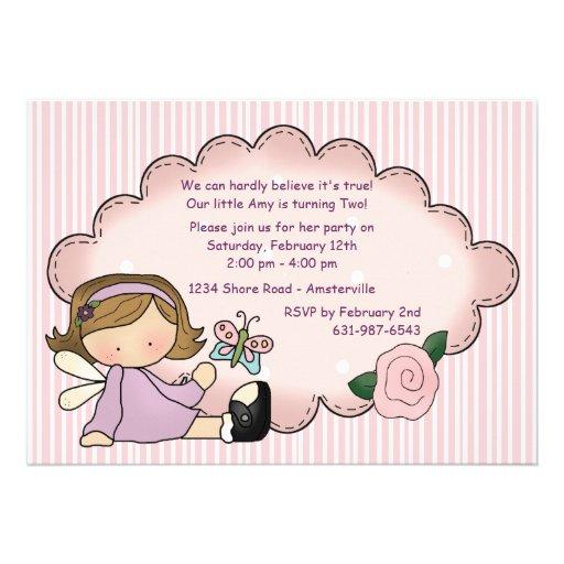Lavender Sweetie Birthday Party Invitation