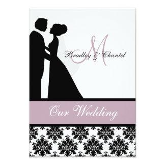Lavender Wedding Couple Wedding Invitation