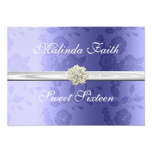 Lavender with Pearls Sweet Sixteen Invitation Invites