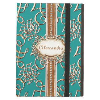 Lavish Elegant Gold Look Calligraphic Swirl Jewels iPad Air Case