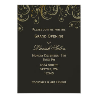 Lavish Gold Elegant Corporate party Invitation