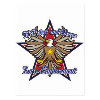 Law Enforcement Eagle Postcard
