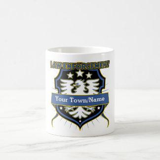 Law Enforcement Police Heraldry Crest Coffee Mug