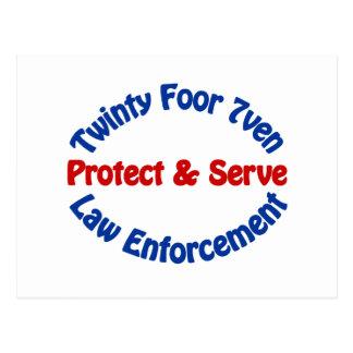 Law Enforcement Postcard