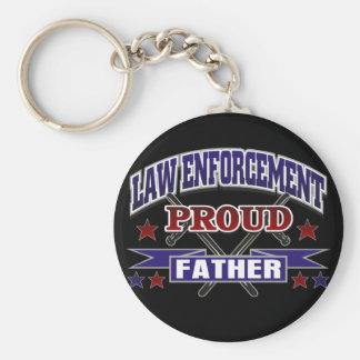 Law Enforcement Proud Father Key Ring