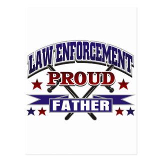 Law Enforcement Proud Father Post Card