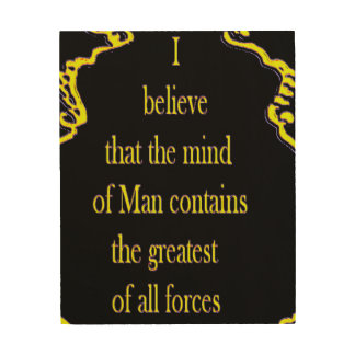 LAW OF ATTRACTION WOOD PRINTS