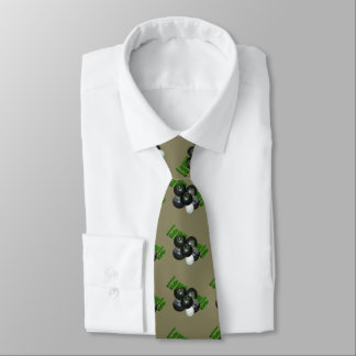Lawn Bowls And Logo Teal Unisex Silky Tie