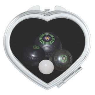 Lawn Bowls,_Beauty_Heart_Mirror_Compact Compact Mirrors