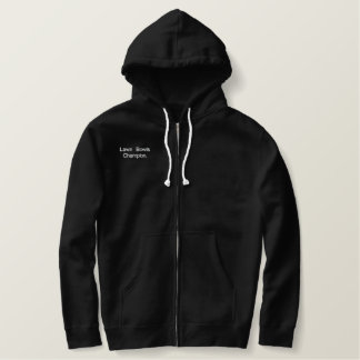 Lawn_Bowls_Champion, Embroidered Sherpa Zip Hoodie